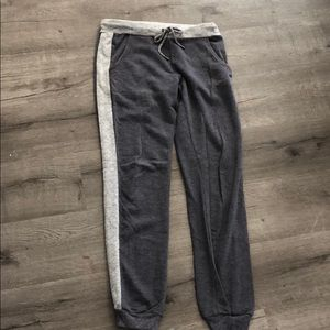 Light & dark contrast band ankle cuff jogger sweat